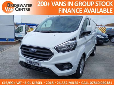 FORD TRANSIT CUSTOM Panel Van 2.0 TDCi 300 L1H1 Limited 5dr (EU6)