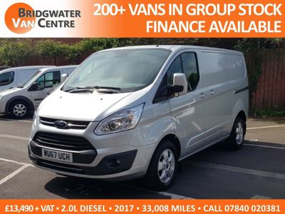 FORD TRANSIT CUSTOM Panel Van 2.0 TDCi 290 L1H1 Limited Panel Van 5dr (EU6)