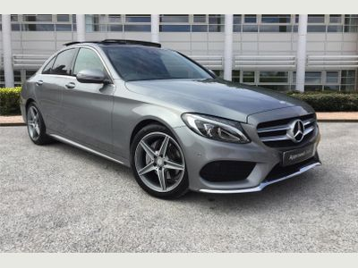 Mercedes-Benz C Class Diesel Saloon C220d AMG Line Premium Plus 4dr Auto 2.2 **RED LEATHER, PAN ROOF**
