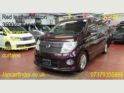 NISSAN ELGRAND MPV Red leather+Highwaystar+Recliner+dvd+cam