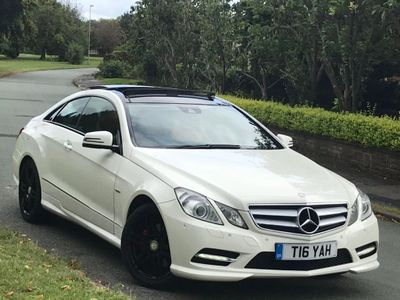 MERCEDES-BENZ E CLASS Coupe 1.8 E200 BlueEFFICIENCY Sport Edition 125 (s/s) 2dr