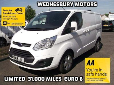 FORD TRANSIT CUSTOM Panel Van 2.0 TDCi 290 L2H1 Limited Panel Van 5dr (EU6)