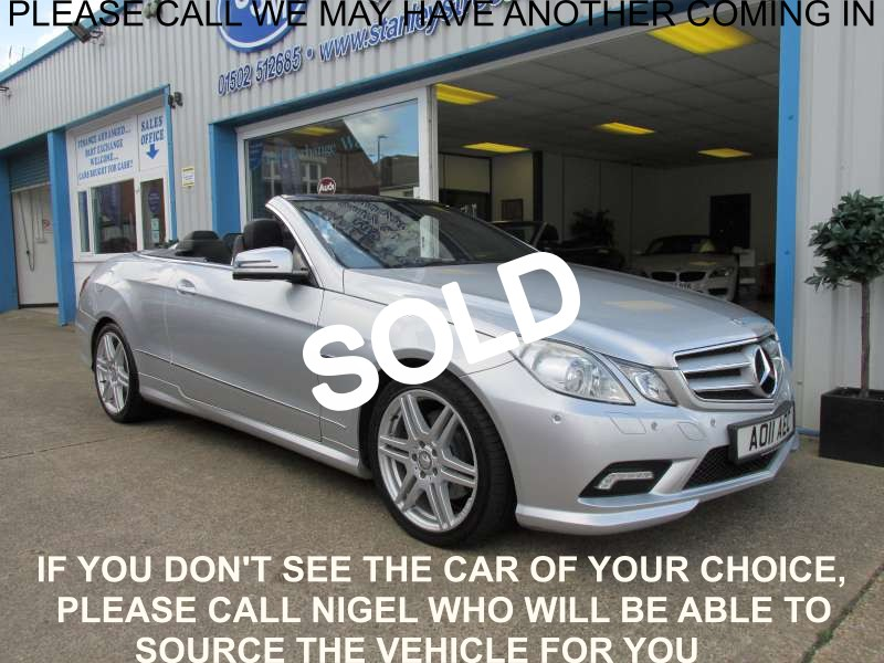 MERCEDES-BENZ E CLASS Convertible 3.0 E350 CDI BlueEFFICIENCY Sport 2dr