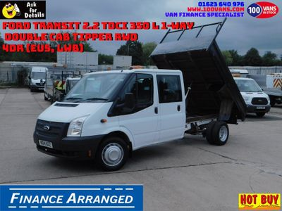 FORD TRANSIT Tipper 2.2 TDCi 350 L 1-Way Double Cab Tipper RWD 4dr (EU5, LWB)
