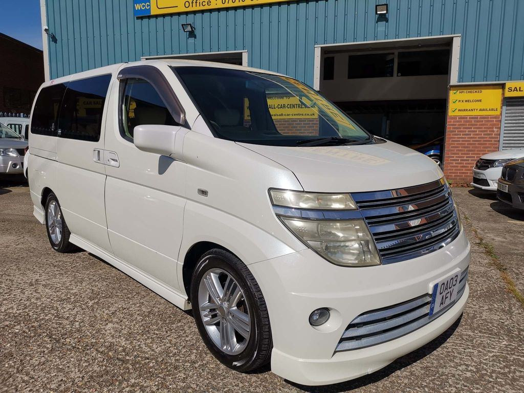 NISSAN ELGRAND Estate ELGRAND RIDER 3.5 AUTOMATIC 8 SEATER 2003 03 REG
