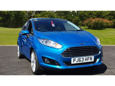 Ford Fiesta 1.0 Ecoboost Titanium X 5Dr Petrol Hatchback striking colour candy blue