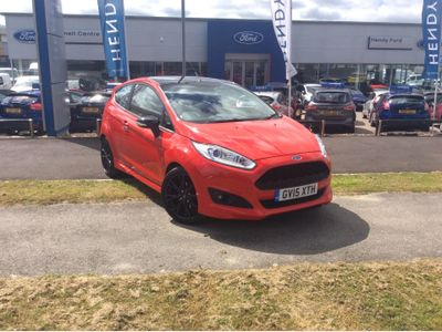 Ford Fiesta 1.0 EcoBoost 140 Zetec S Red 3dr SPORT SEATS - BLACK ALLOYS