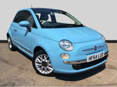 Fiat 500 1.2 Lounge Hatchback 3dr Petrol Manual (s/s) (113 g/km, 69 bhp) *GLASS ROOF+AIR CONDITIONING!*