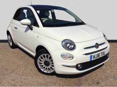 Fiat 500 1.2 Lounge Hatchback 3dr Petrol Manual (s/s) (110 g/km, 69 bhp) ONE OWNER+FULL SERVICE HISTORY